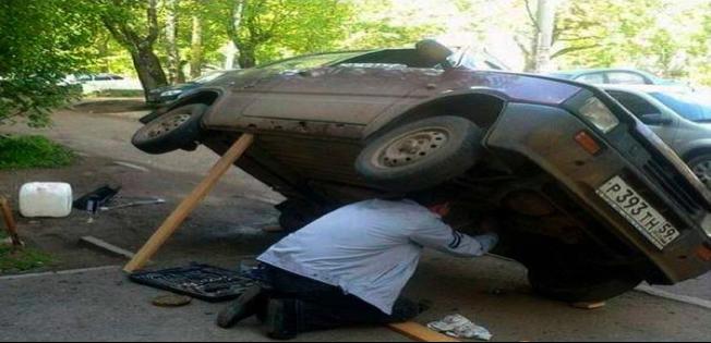 Exemplo de um fim de semana de entusiasta de carro velho